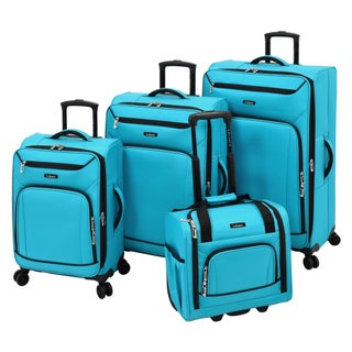 Leisure Escape 4-piece Expandable Spinner Luggage Set