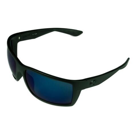 Costa Del Mar Reefton Sunglasses Matte Gray w/ Gray 580P Lens - Black