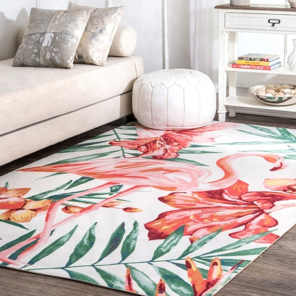 Flamingo Shaped Rug Uniquely Modern Rugs