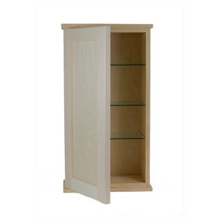 Shaker Series On Wall Wood Unfinished Medicine Cabinet