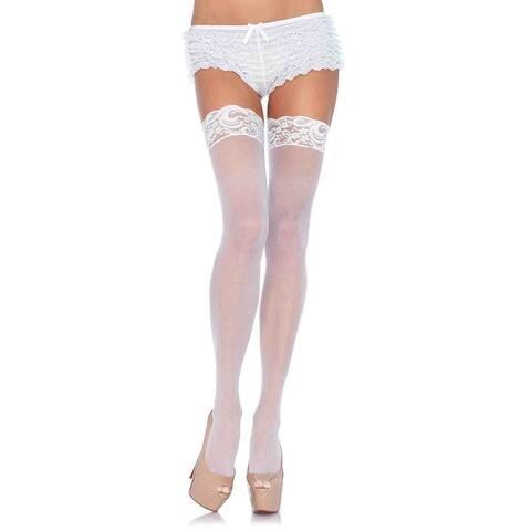 988a69582 Leg Avenue Women s Plus Size Nyln Sheer Thi-Hi