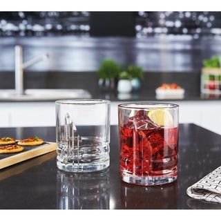Luminarc Parallels 13 Ounce Double Old Fashioned, Set of 4