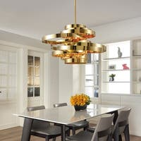 Shamgar Gold 23-inch LED Pendant With Gold Shade