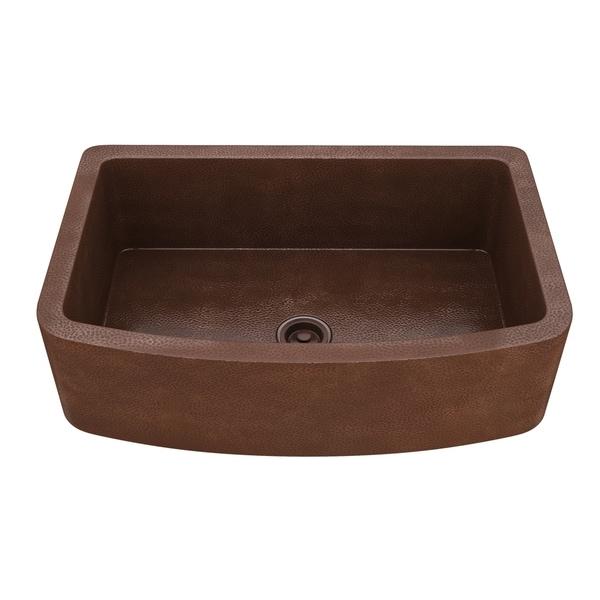 """Shop ANZZI Terra Farmhouse 33"""" Single Bowl Kitchen Sink"""