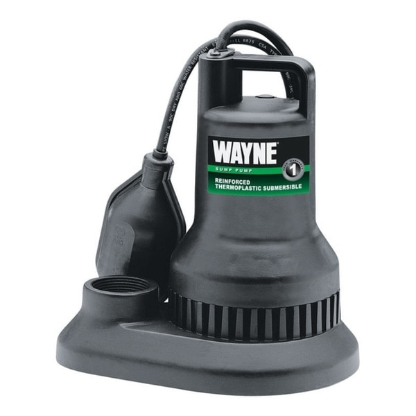 Wayne 1/4 hp 2250 gph Thermoplastic Submersible Sump Pump