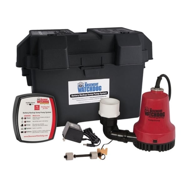 Basement Watchdog 1/4 hp 2000 gph Plastic Submersible Sump Pump Back-Up