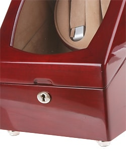 Rocketbox Cherry Wood Two-slot Watch Winder Storage Case - Thumbnail 2