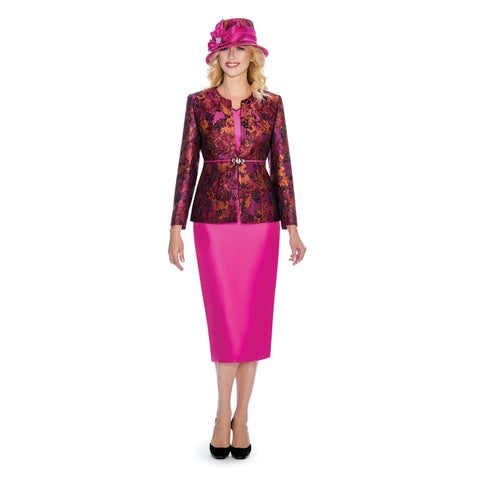Giovanna Collection Women's 3-piece Art of Brocade Skirt Suit