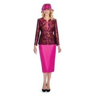 Giovanna Collection Women's 3-piece Art of Brocade Skirt Suit