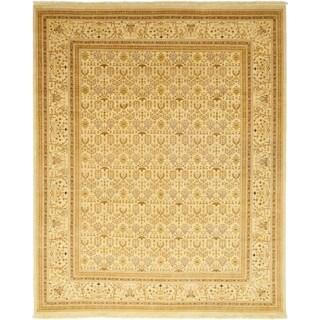 Oushak Beige Handmade Wool Area Rug - 9'3 x 11'4