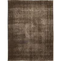 "Vintage Overdyed Brown Area Rug - 9' 10"" x 13' 2"""