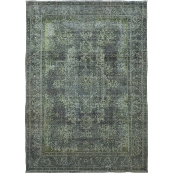 8 X 11 Area Rugs On Sale: Shop Vintage Overdyed Green Area Rug
