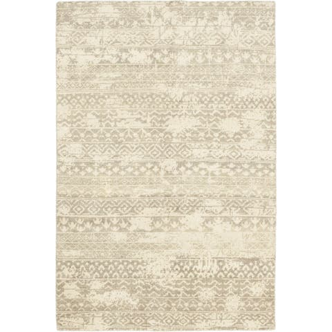 Contemporary Modern One-of-a-Kind Hand-Knotted Area Rug - 6 x 9