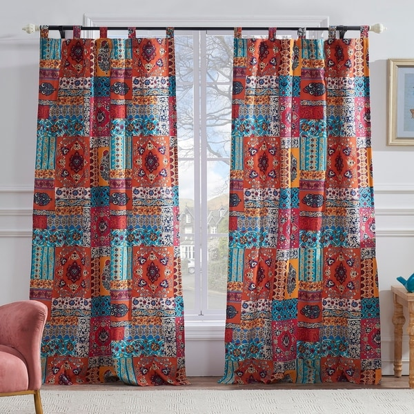 Barefoot Bungalow Indie Spice Curtain Panel Pair - 42 x 84. Opens flyout.