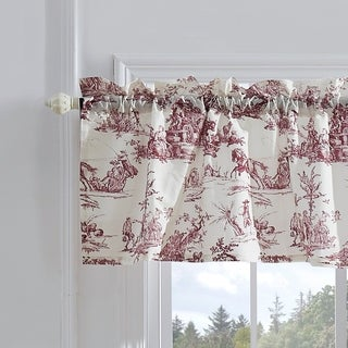 Greenland Home Classic Toile Red Window Valance