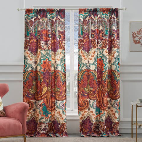 The Curated Nomad Horsdal Spice Curtain Panel Pair - 52 x 84 - 52 x 84