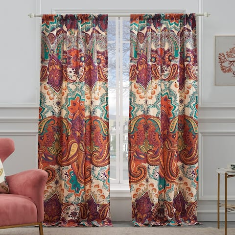 The Curated Nomad Horsdal Spice Curtain Panel Pair - 52 x 84