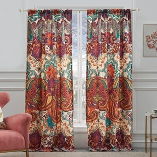Link to The Curated Nomad Horsdal Spice Curtain Panel Pair - 52 x 84 Similar Items in Window Treatments