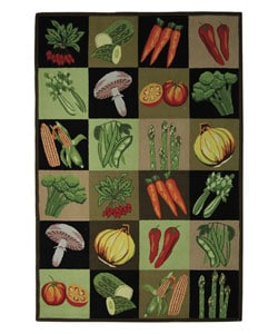 Safavieh Handmade Vintage Vegetable Collage Wool Rug (6' x 9')