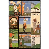 Safavieh Handmade Vintage Posters Novelty Multi Colored Wool Rug - Assorted - 3' x 5'