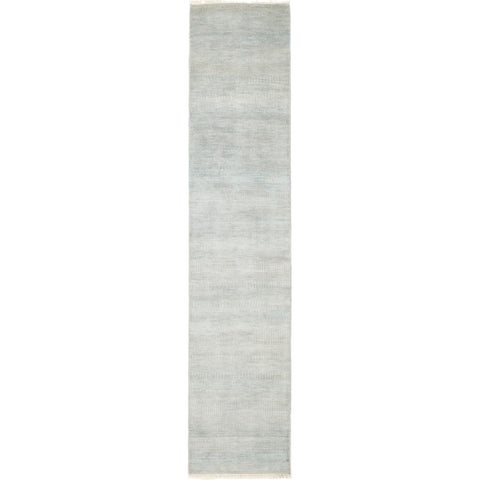 "Savannah Monochrome Blue Runner Rug - 2' 5"" x 12' 1"""