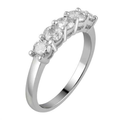 Divina 14KT White Gold 1.0ct TDW Diamond Wedding Band