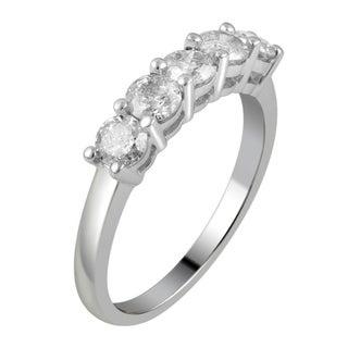 Divina 14KT White Gold 1.0ct TDW Diamond Wedding Band