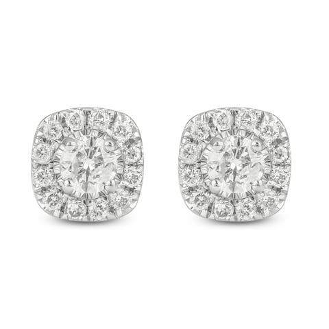 Cali Trove 1/2ct TDW Diamond Fashion Stud Earring In 10kt White Gold