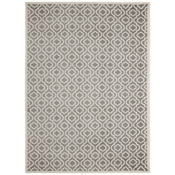 Alpina Collection Moroccan Trellis Area Rug Gray Ivory 2 7 X 9 10 Free Shipping Today 23034000