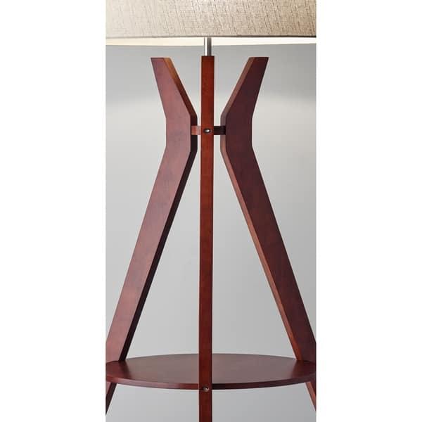 Shop Adesso Bedford Solid Walnut Wood Tripod Shelf Floor