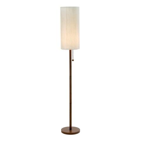 Adesso Hamptons Walnut Floor Lamp