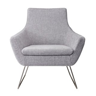 Adesso Kendrick Soft Textured Grey Arm Chair