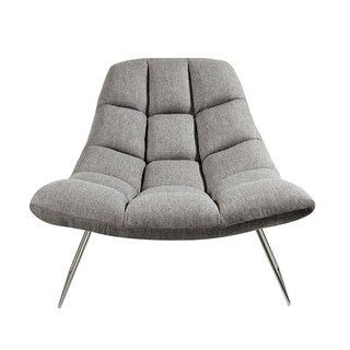 Adesso Bartlett Soft Textured Grey Accent Chair