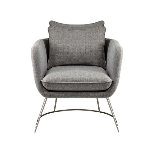Adesso Stanley Soft Textured Fabric Arm Chair