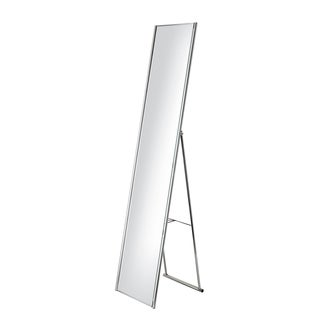 Adesso Alice Satin Steel Floor Mirror