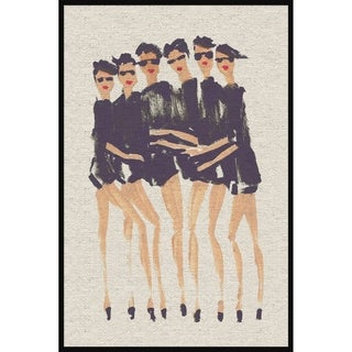 Marmont Hill - Handmade Six Modeles II Floater Framed Print on Canvas