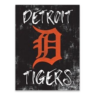 Detroit Tigers Grunge Printed Canvas - 18W x 24H x 1.25D