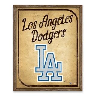 Los Angeles Dodgers Vintage Card Recessed Box - 16W x 20H x 1.25D - Multi-color