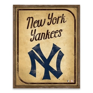 New York Yankees Vintage Card Recessed Box - 16W x 20H x 1.25D - Multi-color