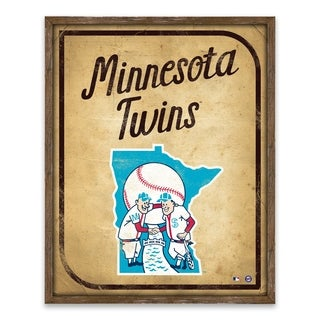 Minnesota Twins Vintage Card Recessed Box - 16W x 20H x 1.25D