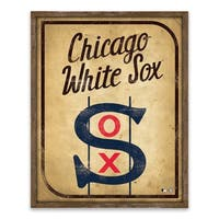 Chicago White Sox Vintage Card Recessed Box - 16W x 20H x 1.25D