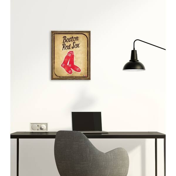 Miraculous Shop Boston Red Sox Vintage Card Recessed Box 16W X 20H X Dailytribune Chair Design For Home Dailytribuneorg