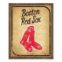 Boston Red Sox Vintage Card Recessed Box - 16W x 20H x 1.25D