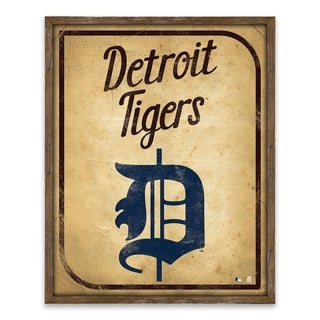 Detroit Tigers Vintage Card Recessed Box - 16W x 20H x 1.25D