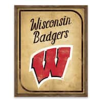 Wisconsin Badgers Vintage Card Recessed Box - 16W x 20H x 1.25D