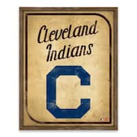 Cleveland Indians Vintage Card Recessed Box - 16W x 20H x 1.25D