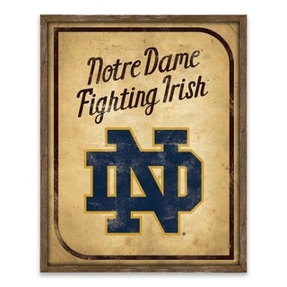 Notre Dame Fighting Irish Vintage Card Recessed Box - 16W x 20H x 1.25D - Multi-color