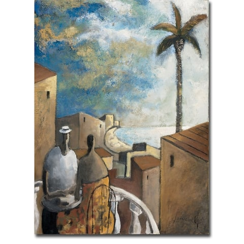 Café en la Tarde (Coffee in the Afternoon) by Didier Lourenco Gallery Wrapped Canvas Giclee Art