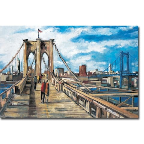 Brooklyn Bridge by Didier Lourenco Gallery Wrapped Canvas Giclee Art