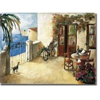 Perro y Bicicleta (Dog and Bicycle) by Didier Lourenco Gallery Wrapped Canvas Giclee Art